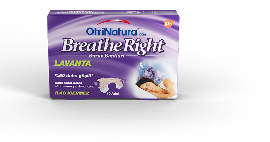 OtriNatura'dan Breathe Right Lavanta Burun Bandı