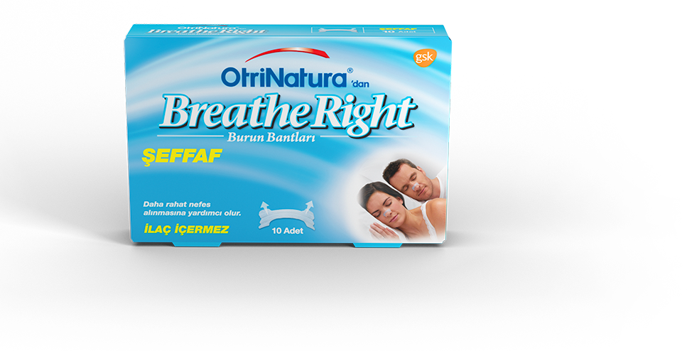 OtriNatura'dan Breathe Right Şeffaf Burun Bandı
